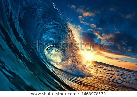 tengeri · kilátás · hullám · hullámok · fény · emelkedő · nap - stock fotó © ecopic