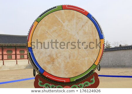 asia · drum · świątyni · Tajlandia · budynku · drewna - zdjęcia stock © art9858