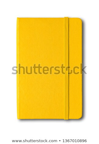 Jaune portable crayon blanche affaires livre Photo stock © caimacanul