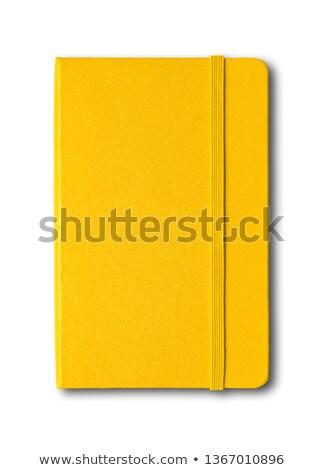 Geel notitieboekje Stockfoto © Daboost