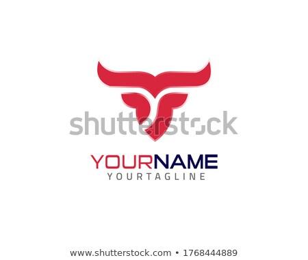 vee · merk · koe · hoofd · ontwerp - stockfoto © netkov1