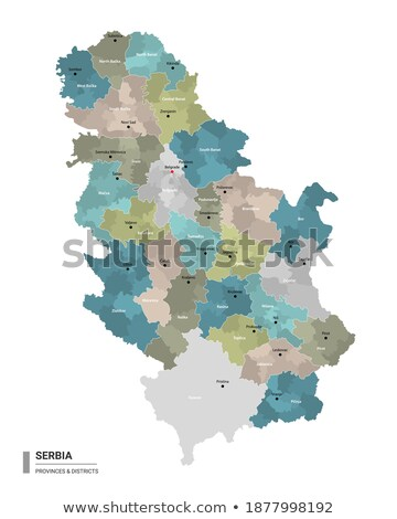 Map of Serbia, Subdivision Zlatibor District Stock photo © Istanbul2009