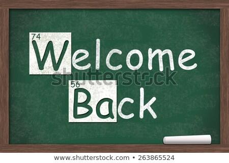 bem-vindo · de · volta · à · escola · conselho · sala · de · aula · atrás - foto stock © shutswis