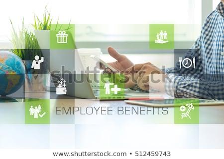 Voordeel definitie woord groene fiche papier Stockfoto © ivelin