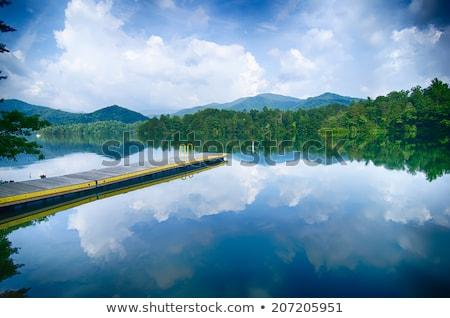 озеро дымчатый гор Северная Каролина облака Сток-фото © alex_grichenko