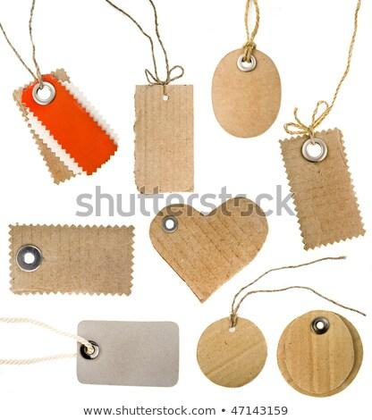 Carton coeur arc isolé blanche Photo stock © tetkoren