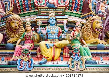 Telhado templo Sri Lanka edifícios adorar Foto stock © Mikko