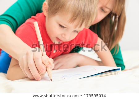 baba · korai · oktatás · ázsiai · család · életstílus · otthon - stock fotó © lightsource