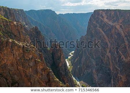 黒 峡谷 公園 コロラド州 自然 山 ストックフォト © stryjek