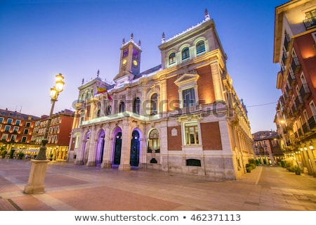 sala · España · ciudad · cielo · edificio · reloj - foto stock © lunamarina