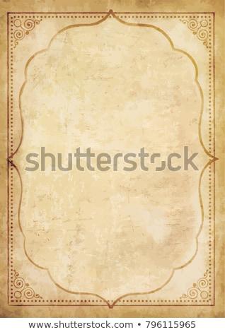 eski · çiçek · kâğıt · dokular · mükemmel · uzay - stok fotoğraf © ezggystar