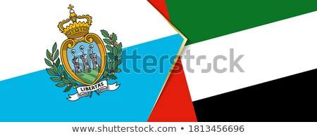 United Arab Emirates and San Marino Flags Stock photo © Istanbul2009
