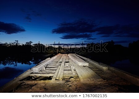 Stock photo: Dangerous bridge