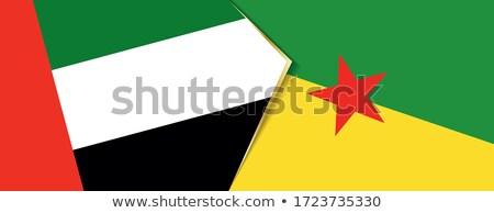 united arab emirates and french guiana flags stock photo © istanbul2009