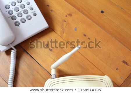 Rede modem humanismo dedos cabo Foto stock © Novic