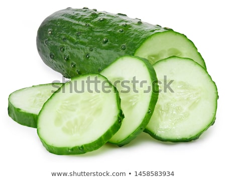 Stock photo: Fresh cucumbers on a white background
