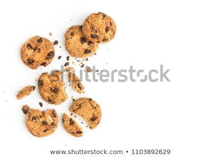 хрустящий Cookies разделочная доска завтрак торты никто Сток-фото © Digifoodstock