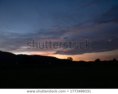 Hajnal hegyek nyár tájkép reggel szépség Stock fotó © Kotenko