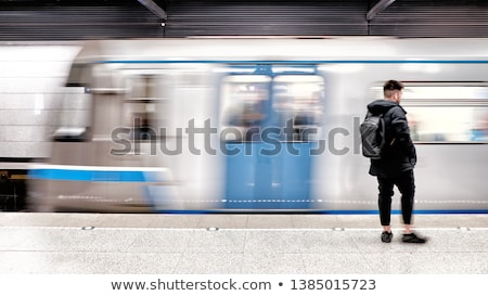train with motion blur moves in subway Stock photo © ssuaphoto