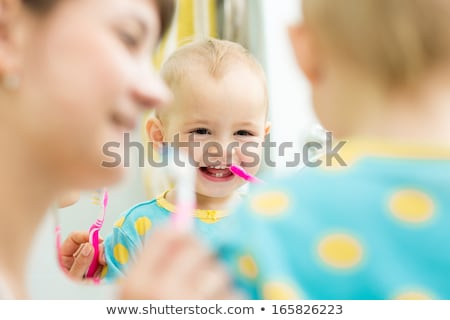 baby with tooth brush 2 stock photo © Paha_L