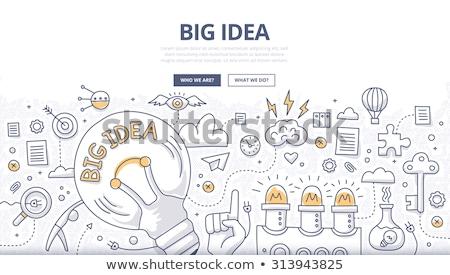 nagy · ötletek · inspiráció · innováció · találmány · hatékony - stock fotó © davidarts