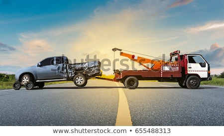 car crane blue Stock photo © mayboro1964