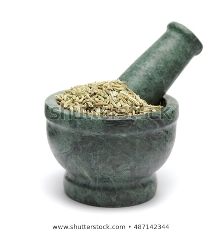 органический фенхель семени изолированный белый Сток-фото © ziprashantzi