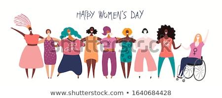 Preto e branco ilustração mulher em pé nu Foto stock © artfotoss