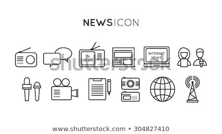 rendkívüli · hírek · vektor · kék · tv · képernyő · világ - stock fotó © rastudio