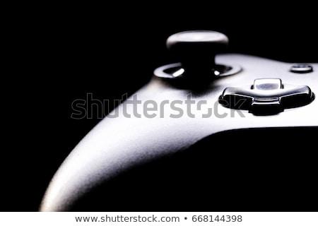ゲーム コンソール 黒 ジョイスティック カラフル ボタン ストックフォト © LironPeer