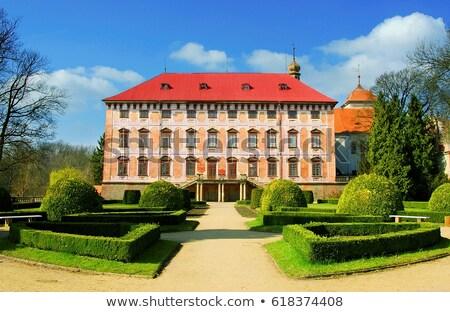 дворец Чешская республика здании саду путешествия замок Сток-фото © phbcz