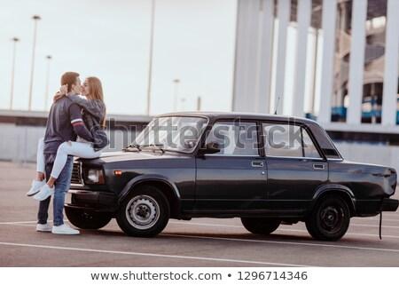 Man hugging his hoverboard Stock photo © ozgur