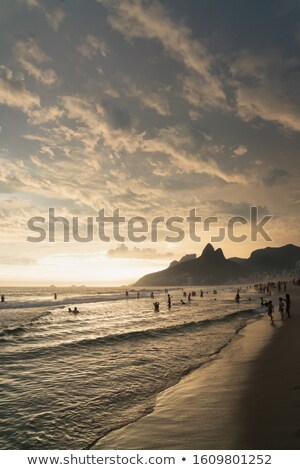 Stock photo: Dramatic sunset over sea