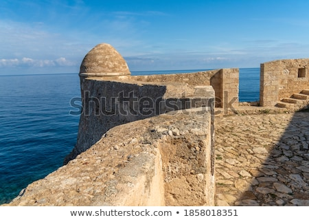 Old Byzantine Fortress Walls, Greece Stock photo © ankarb
