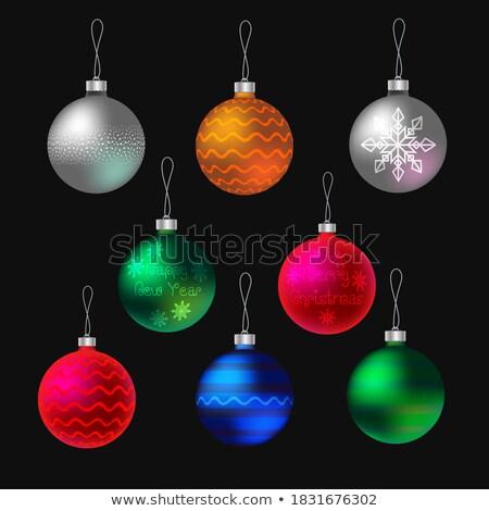 Photo stock: Rouge · vacances · lumineuses · flocons · de · neige · eps · vecteur