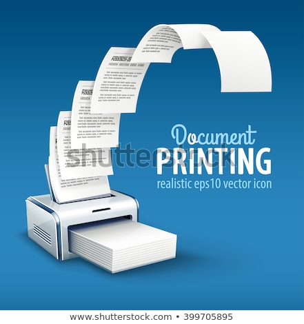 Printer printing copies of text to paper with copyspace Stock photo © LoopAll