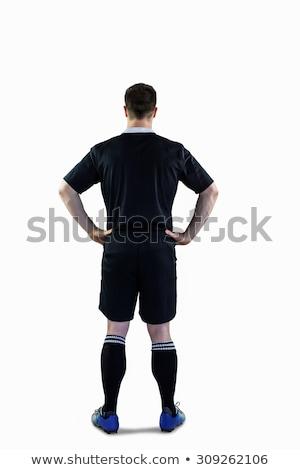 Rugby oyuncu eller kalça arkadan görünüm spor Stok fotoğraf © wavebreak_media