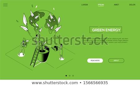 verde · paisagem · cidade · usina · negócio · nuvens - foto stock © -baks-