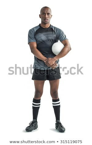 Male rugby player. Studio shot over white. Stock photo © nickp37
