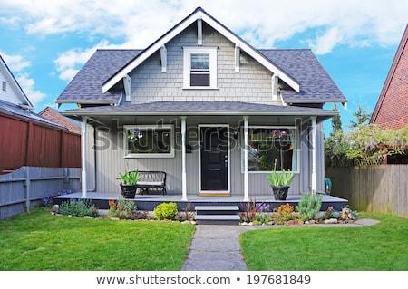 huizen · groene · landschap · hemel · wolken · natuur - stockfoto © bluering