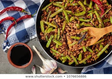 Stock photo: Ground meat stir fry