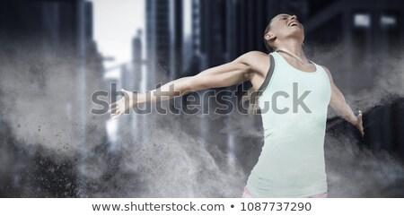 görüntü · genç · mutlu · kadın · eller - stok fotoğraf © wavebreak_media