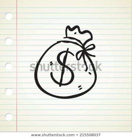 Firka pénz táska ikon infografika szimbólum Stock fotó © pakete