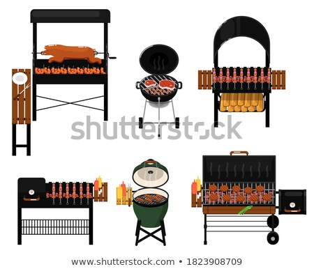 Barbecue stove and different utensils Stock photo © bluering