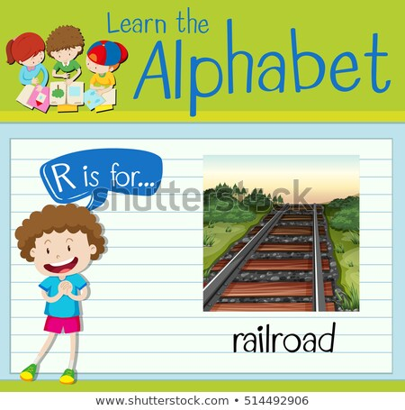 Flashcard letter R is for railroad Stock photo © bluering