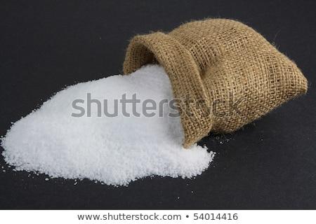 Sel de mer toile de jute sac cosmétiques thérapie Photo stock © Digifoodstock