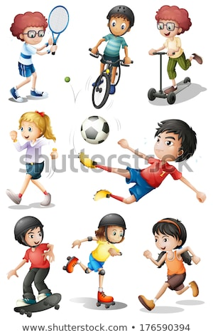 A group of people engaging in different sports Stock photo © bluering
