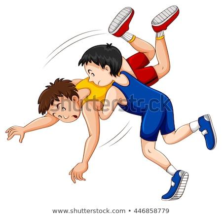 Two men doing wrestling Stock photo © bluering