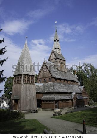 古い 教会 木材 ドイツ 村 ストックフォト © compuinfoto