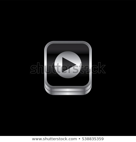 再生 メディア 金属 プレート アイコン ボタン ストックフォト © vector1st
